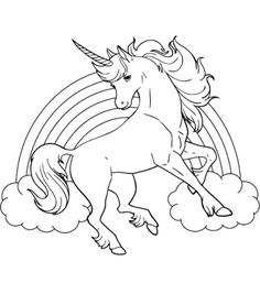 Rainbow pegasus unicorn coloring page coloring pages for Unicorn with wings coloring pages