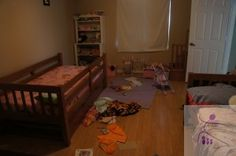 Girls' Bedroom: before