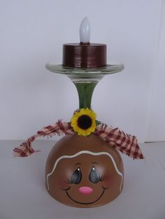 HP Gingerbread Tealight Candle Holder #CraftsFromTheHeart #TolePainting
