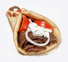 The tasty Greek gyros.