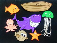 Smiley Shark Flannel Board from Destination Storytime