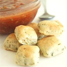Easy Gazpacho with Chive Mini Biscuits