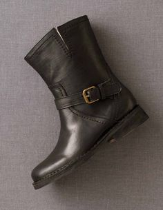 Leather Biker Boot @Boden