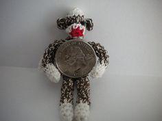 Miniature Sock Monkey free crochet  pattern by Ronda Chapman