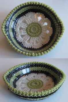 Crochet~ Pie Plate Holder- Free pattern in English at the bottom of the page.