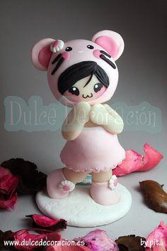 Inspirada en creaciones de Chic Kawaii by Dulce decoración (modelado - tartas decoradas), via Flickr