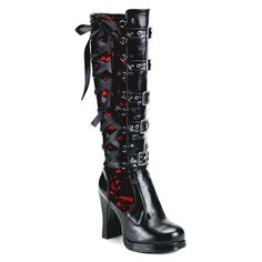 Corseted Knee High Boots
