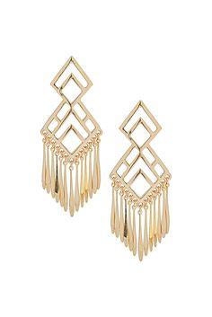 Gold Aztec Earrings ♥