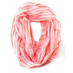 Striped San Miguel Scarf - Coral