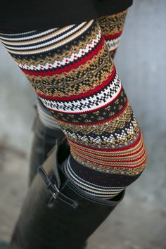 Natural Winter Polka Dot Leggings