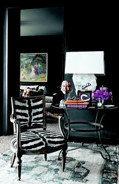 The Decorista-Domestic Bliss: Wallcolor Wednesday: black on black on black