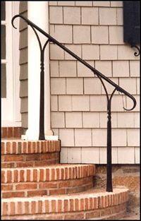 black wrought iron railing