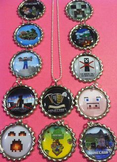 SALE 12 MINECRAFT Bottlecap Necklaces Great by TheLittleGreenWagon, $25.20