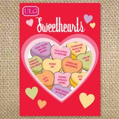 Bite Me Sweetheart Conversation Hearts  set of 10 by uluckygirl, $22.50