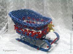санки ажурные плетеные