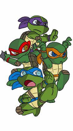 baby ninja turtles - Google Search