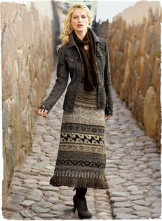Francesca Jacket and Cuzco Wool skirt from Peruvian Connection -