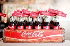vintage coke wedding details