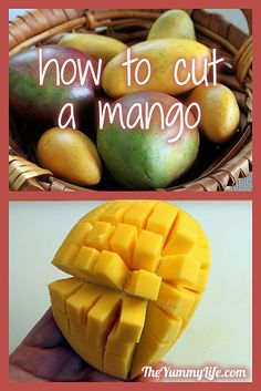 How to cut a mango.