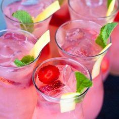 Strawberry Vodka Sparklers.