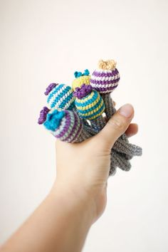 Crochet Crinkle Flower Baby Toy First Grasping and by domatoma, €10.00 design toy, babi toy, baby toys
