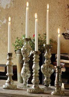 set of 5 candlesticks--so pretty!
