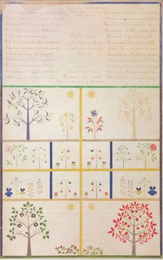 a gift from mother ann, to the elders at the north family... dictated by dana comstock, sept. 1854, by polly collins  from heavenly visions: shaker gift drawings and gift songs