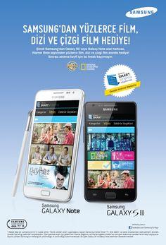 Samsung'un yıldızları Galaxy Note ve Galaxy S2 ile, yüzlerce film bedava