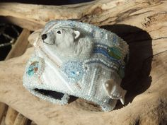 Polar Bear's Dream Bead Embroidered by TheBeadsAreTheLimit