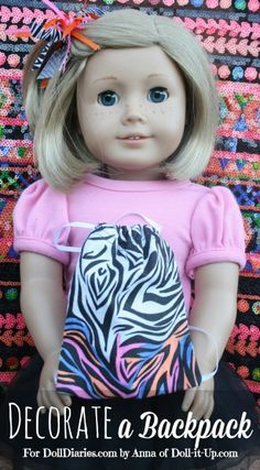 Decorate and Doodle on a Doll Size Backpack!