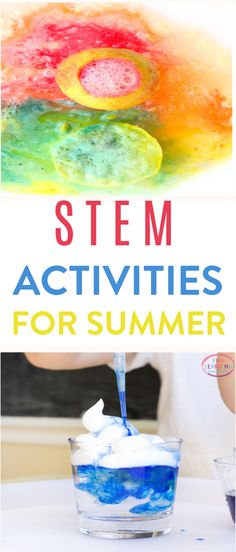 It may be summertime, but that doesn't mean the learning can't  continue. We've rounded up some fun STEM activities for summer that your kids  are going to love. #diy #crafts  #kidscrafts #projects #diycrafts #diyprojects #fundiys #funprojects #diyideas  #craftprojects #diyprojectidea #kidscraftideas #summer #summerfun #stem