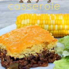 Cornbread Sloppy Joe Casserole Recipe SOOOO GOOD. NEED TO DOUBLE OR TRIPLE EACH TIME WE MAKE IT