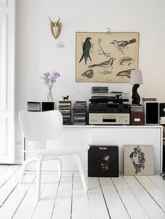 I need my home to be all white, white walls white floors white doors white chairs white on white on white so all my thrift finds can be displayed. Vintage books vintage postcards in the office vintage record player in the den. Yeah that's my plan.