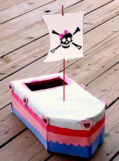 Pirate Ship Valentine Mailbox - The Crafty Crow