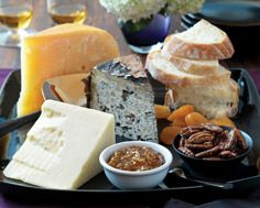 Cheese Board with Whisky Orange Marmelade and Candied Pecans