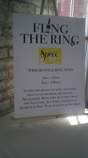 Maybe even better than a wine pull wines, fundraising events, fundrais event, auction idea, wine bottle ring toss, gala idea, wine bottles, fundrais idea, auction project