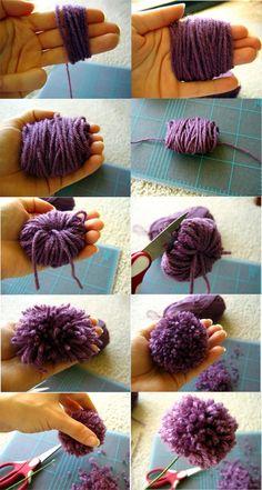 Cómo hacer pompones de lana | Mundo Manualidades