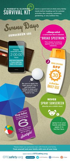 Stay sun safe with our helpful infographic. #summer #moms #beach #sunscreen #safety
