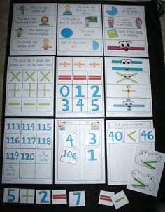 Classroom Freebies: Math Symbol and Number Cards to 120