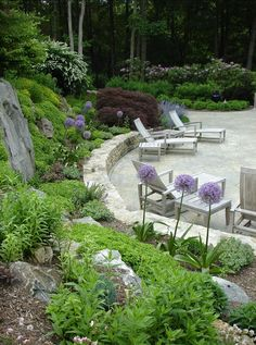 Another sloped yard idea.
