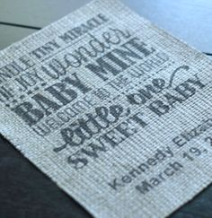 A super cool tutorial showing you how to print on burlap straight from your home printer! No stencil or paint!