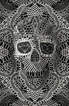 Skulls With A Twist by ali gulec, via Behance