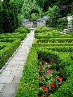 Formal garden.