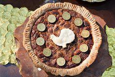 Bourbon Pecan & Chocolate Gelt Pie