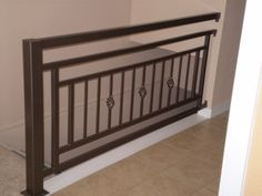 Cool idea for Second floor landing railing.