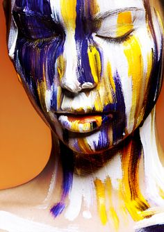 oil paintings, body paintings, behance, makeup, artist, painted faces, color wars, art projects, viktoria stutz