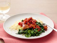 Balsamic Chicken with Baby Spinach Recipe : Ellie Krieger : Food Network - FoodNetwork.com