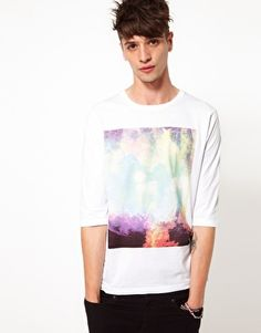 ASOS 3/4 Sleeve Top With Photographic Print