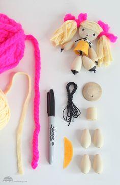 DIY Wood Bead Dolls – How To Make Dolls – Artterro Craft Kits | Small for Big