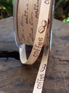 Coffee Bean Organic Cotton Ribbon